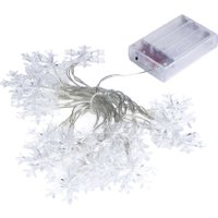 2.3M 20LED Snowflake Lamp Holiday Lighting Wedding Party Festival Decoration Curtain String Lights