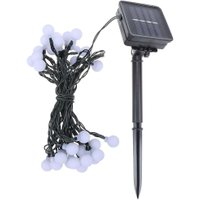 30 LED White Ball String Lights Solar Powered Lamp Holiday Lighting For Indoor Home Garden Party Christmas Decoration