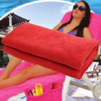 Recliner Cover Towel Bag Beach Sun Lounger Cover Holiday Garden Lounge Zipper Design Quick-Drying Towel Cloth 75 x 210cm