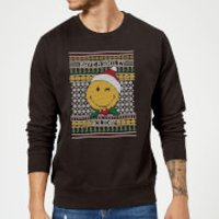 Smiley World Have A Smiley Holiday Christmas Sweatshirt - Black - XL - Black